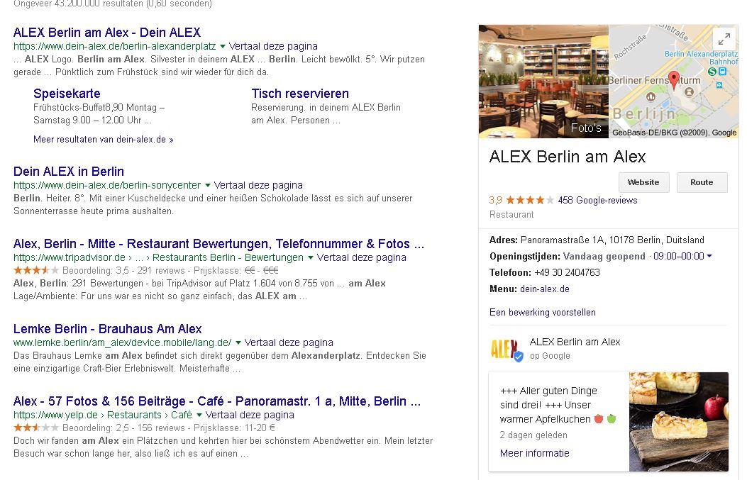 Inspirerend voorbeeld Google Posts restaurant_Geel Marketing