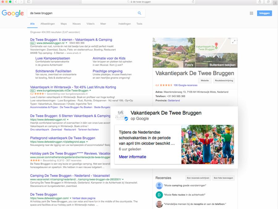 Voorbeeld gebruik Google Posts_Geel Marketing